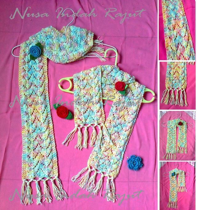 Knitted Artinya : Tiga syal rajutan hasta karya novi kurnia