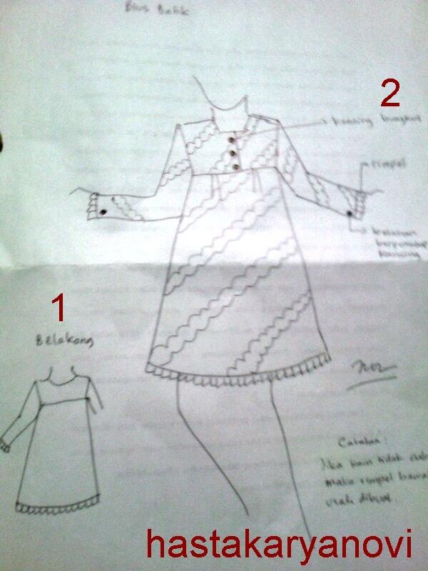Cara Menggambar Desain Busana Hasta Karya Novi Kurnia